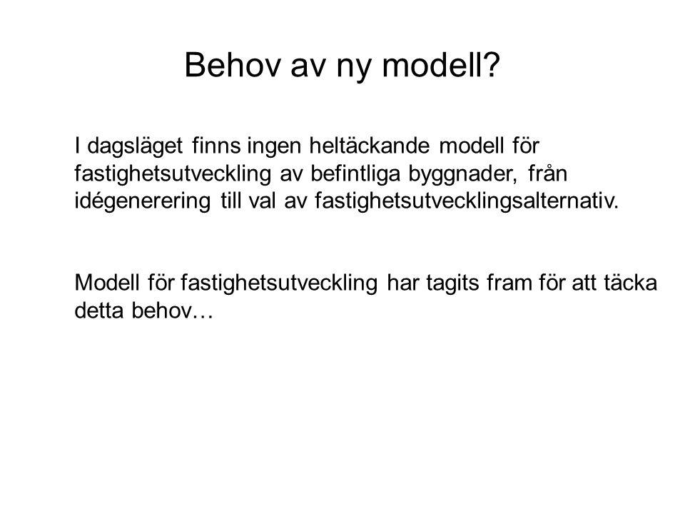 Behov av ny modell