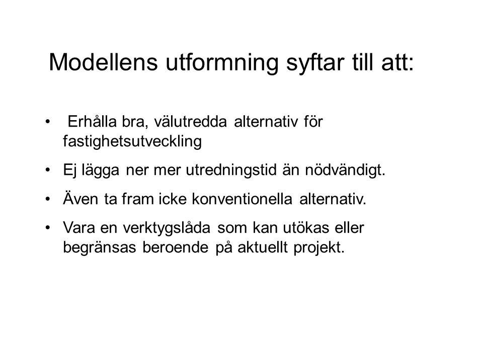Modellens utformning syftar till att: