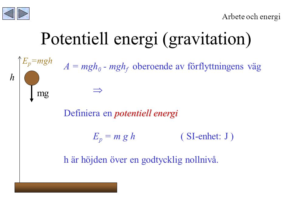 Potentiell energi (gravitation)