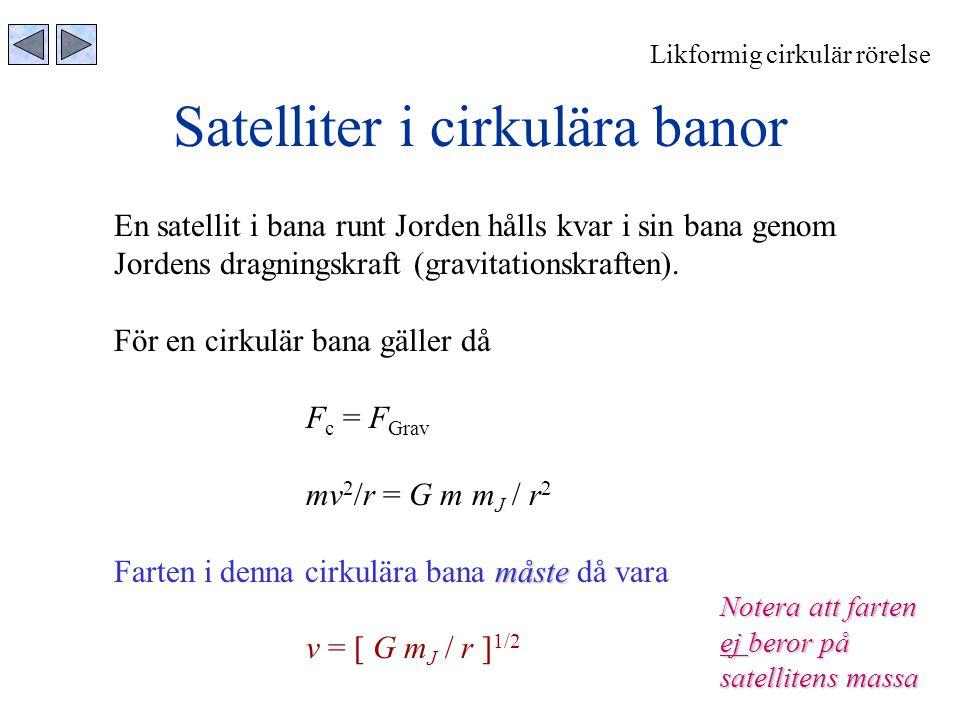 Satelliter i cirkulära banor