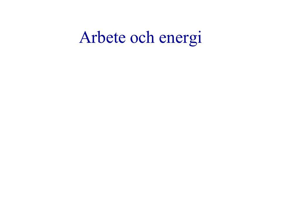 Arbete och energi