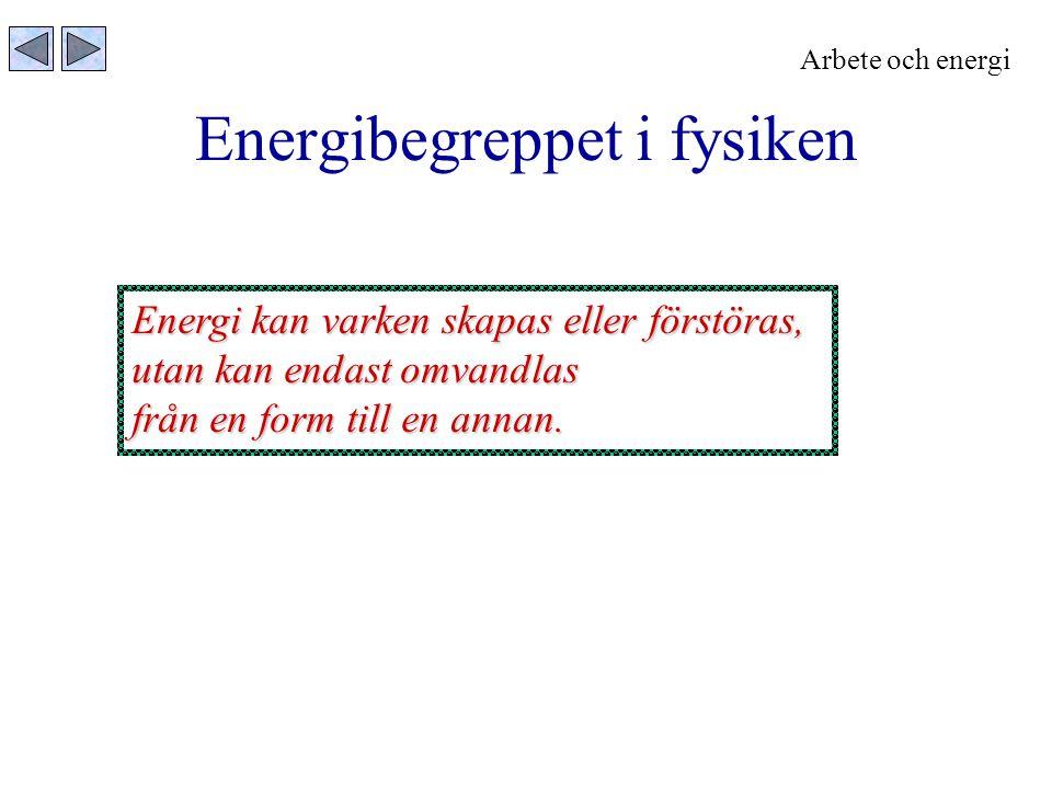 Energibegreppet i fysiken