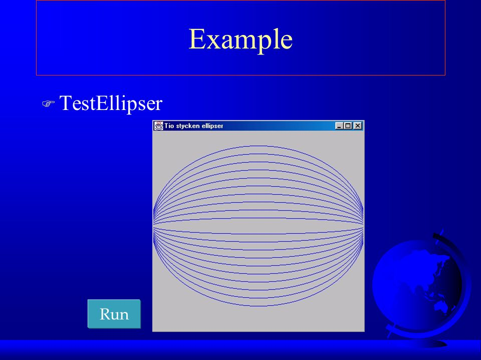 Example TestEllipser Run
