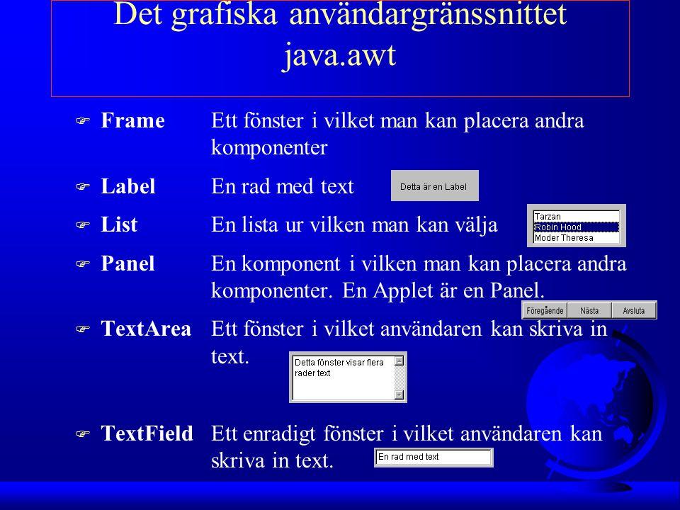 Det grafiska användargränssnittet java.awt