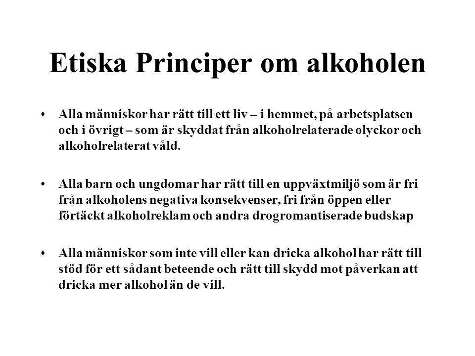 Etiska Principer om alkoholen