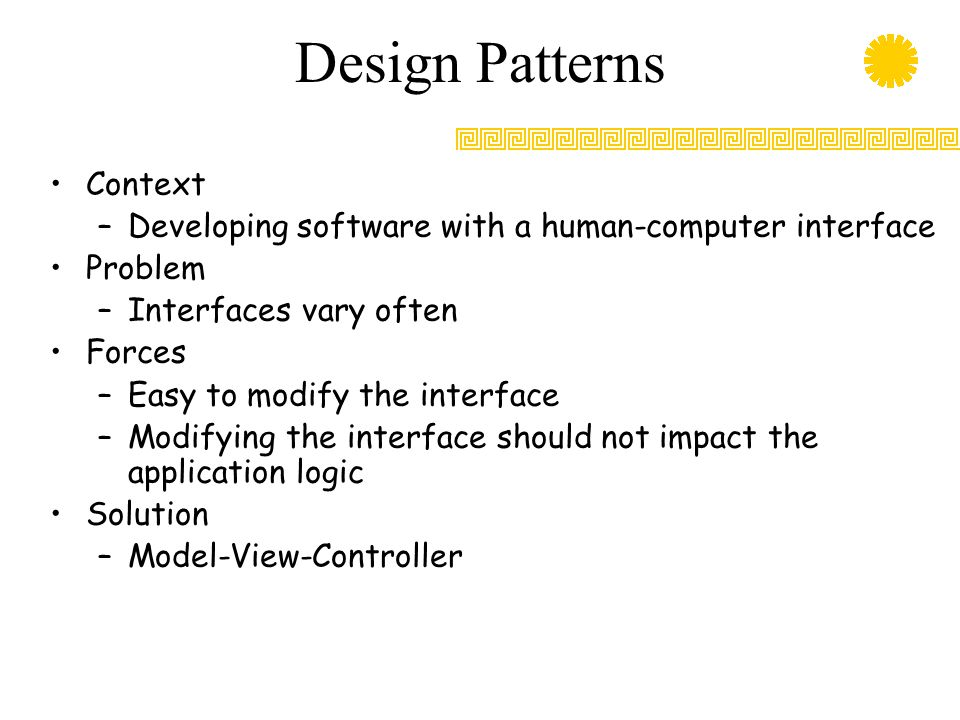 Design Patterns Context