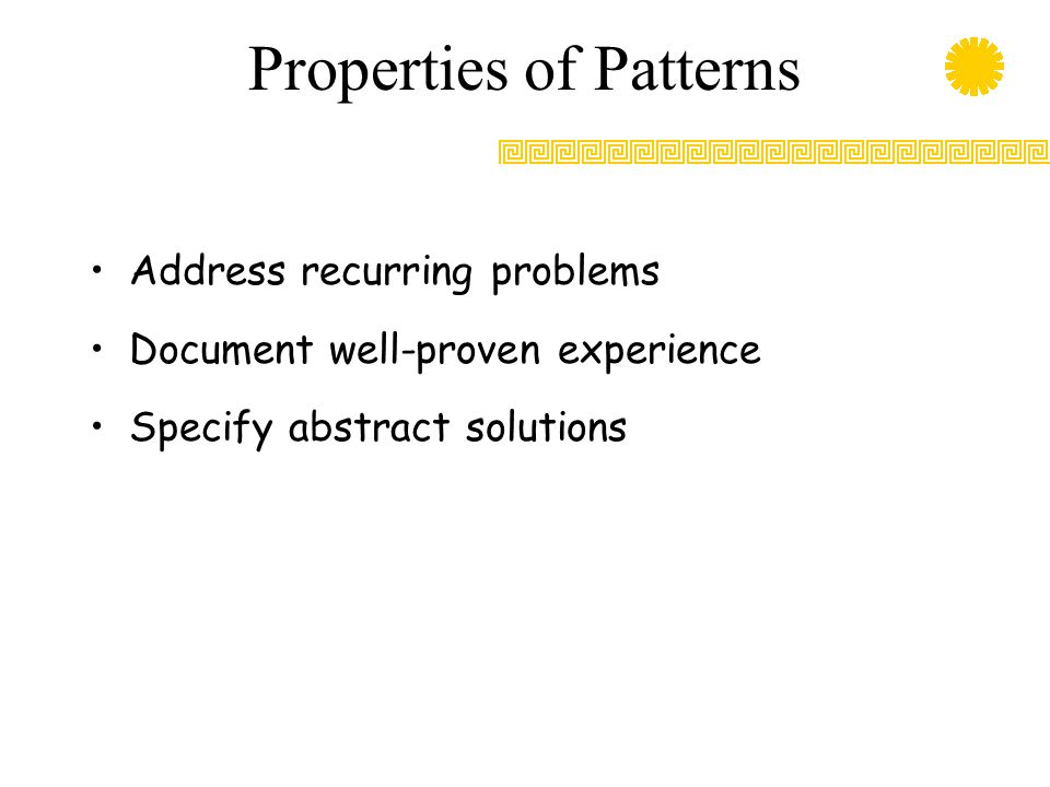 Properties of Patterns