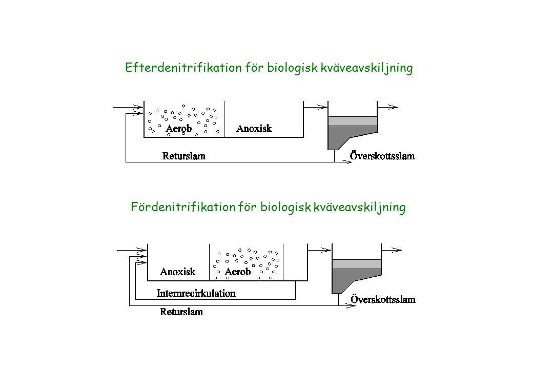 Efterdenitrifikation för biologisk kväveavskiljning