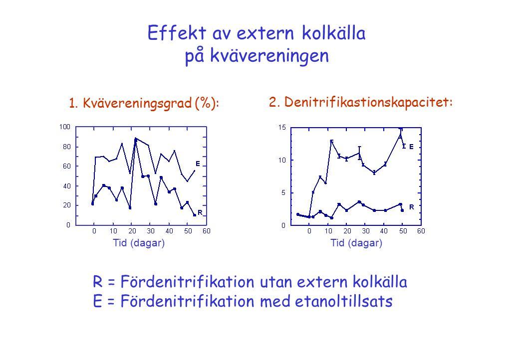 Effekt av extern kolkälla på kvävereningen