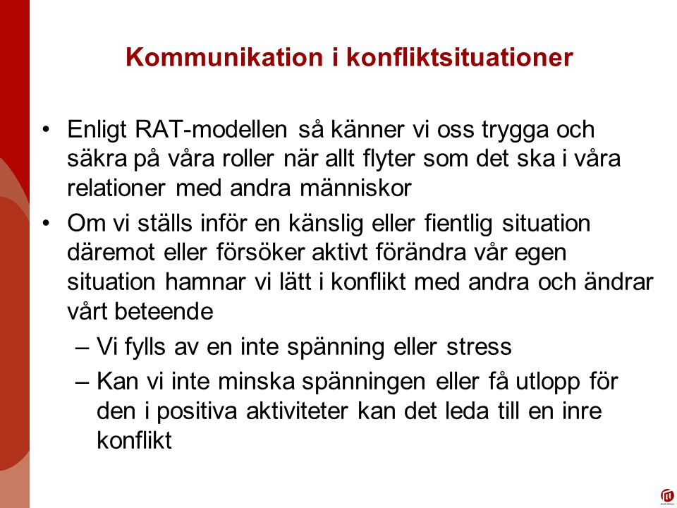 Kommunikation i konfliktsituationer