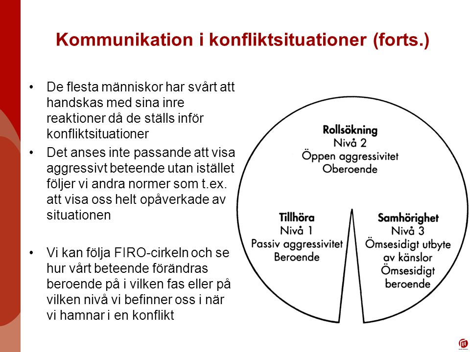 Kommunikation i konfliktsituationer (forts.)