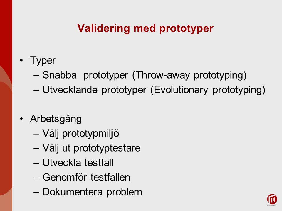 Validering med prototyper