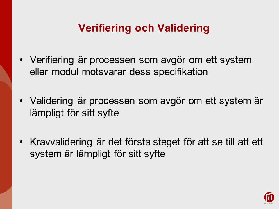 Verifiering och Validering