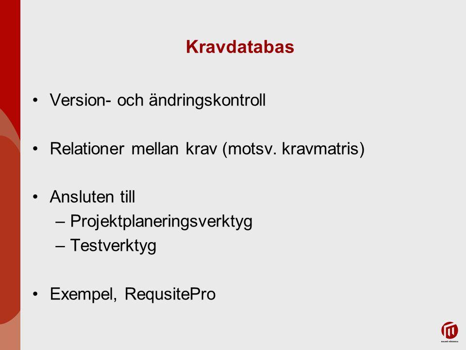 Kravdatabas Version- och ändringskontroll