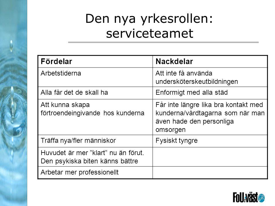 Den nya yrkesrollen: serviceteamet