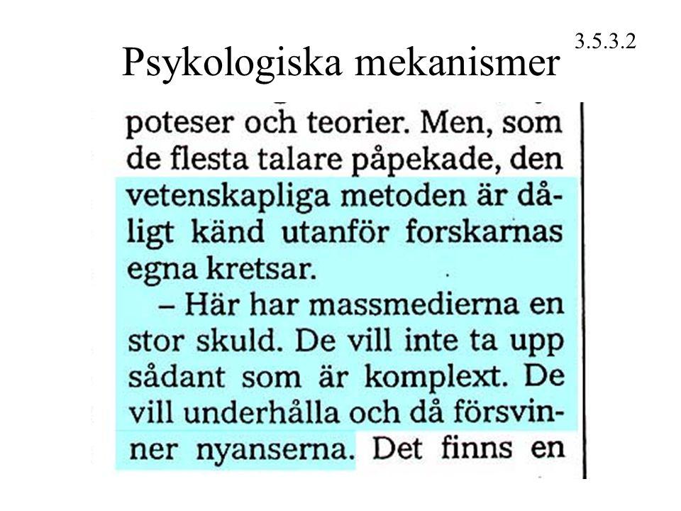 Psykologiska mekanismer