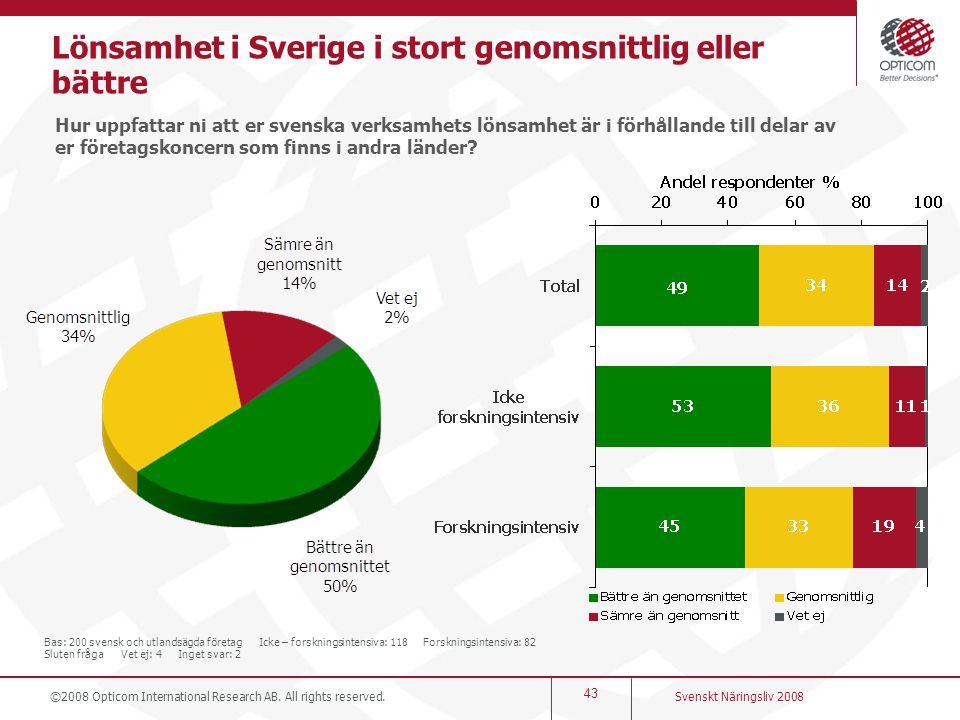 Lönsamhet i Sverige i stort genomsnittlig eller bättre
