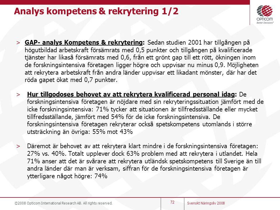 Analys kompetens & rekrytering 1/2