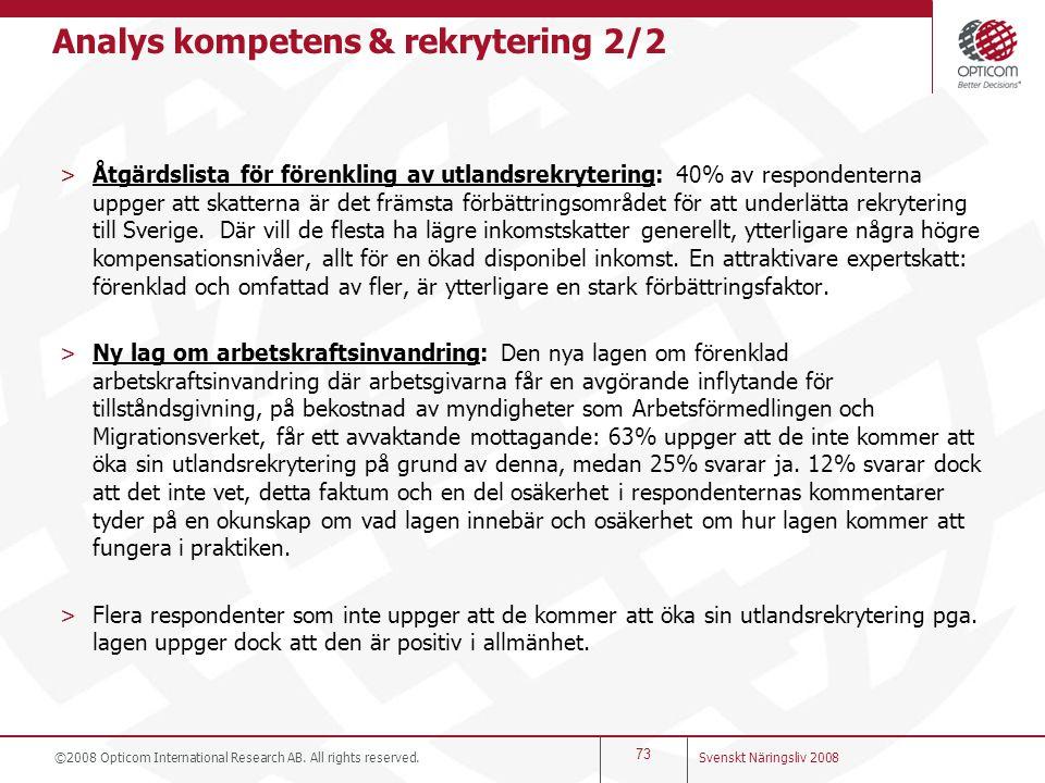 Analys kompetens & rekrytering 2/2