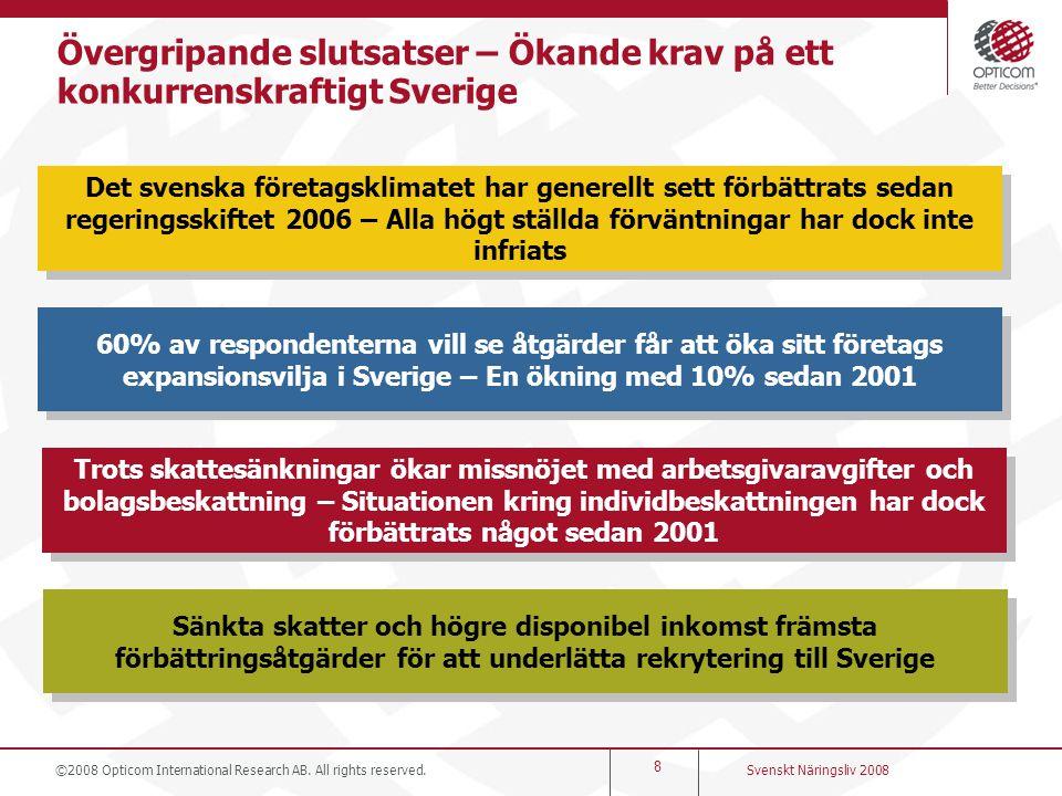 Övergripande slutsatser – Ökande krav på ett konkurrenskraftigt Sverige