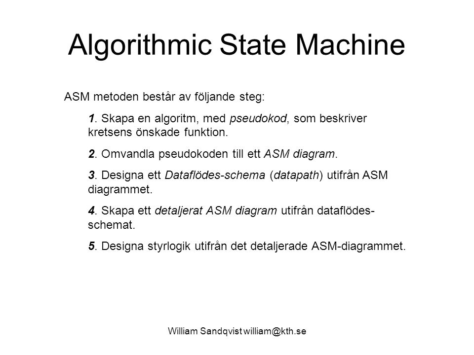 Algorithmic State Machine