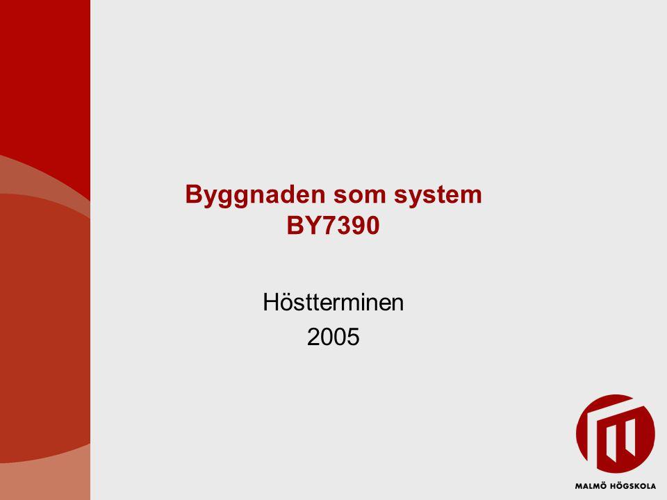 Byggnaden som system BY7390