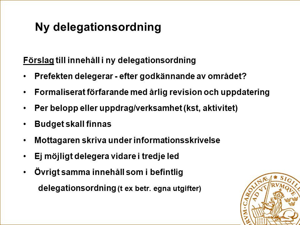 Ny delegationsordning