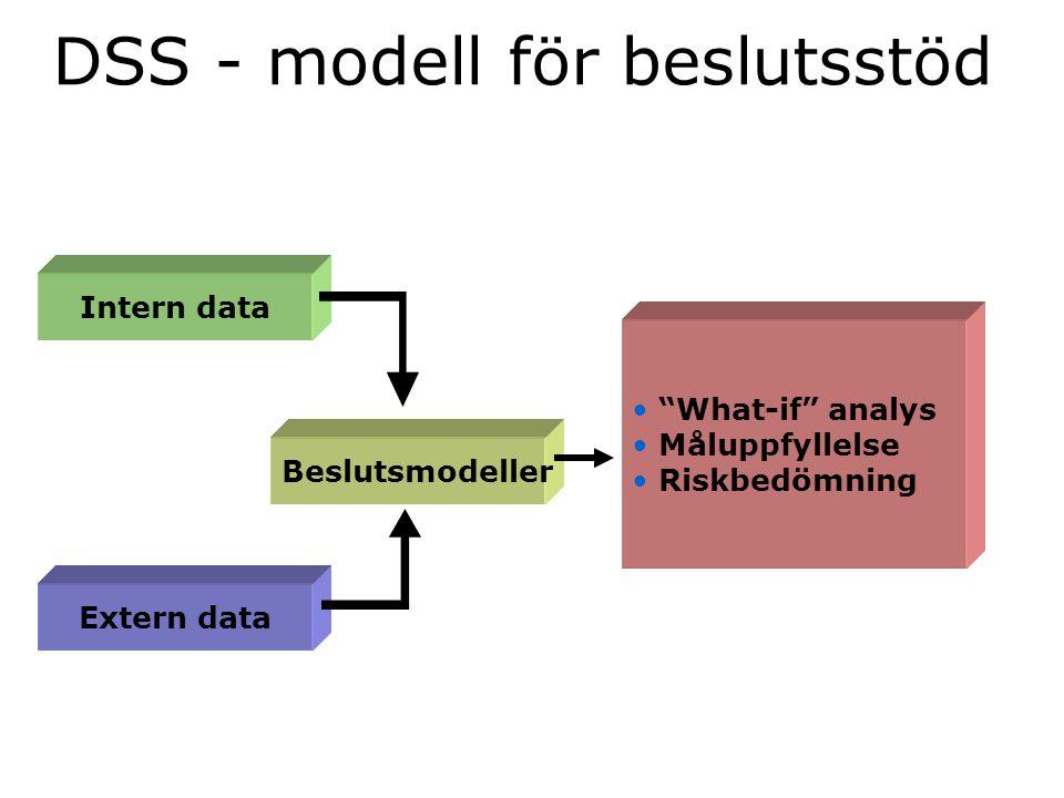 DSS - modell för beslutsstöd