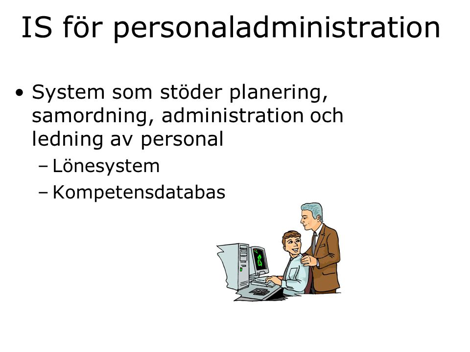 IS för personaladministration