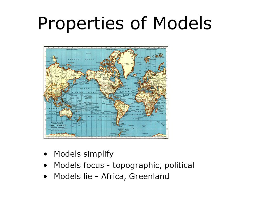 Properties of Models Models simplify