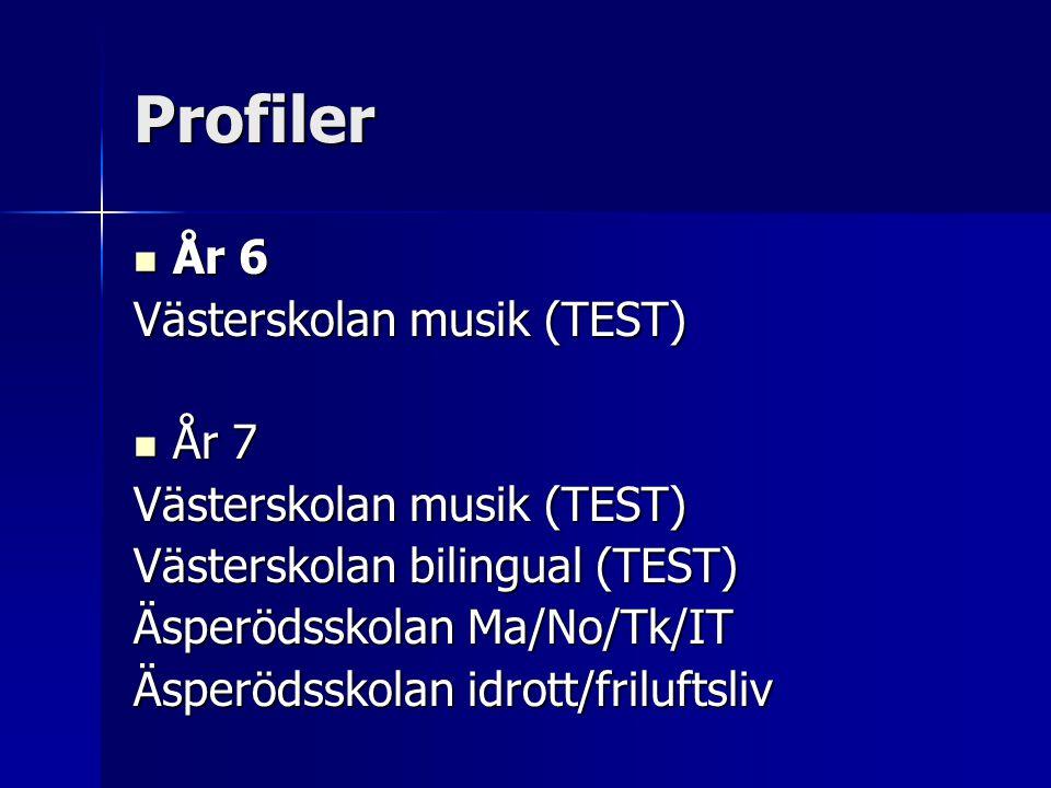 Profiler År 6 Västerskolan musik (TEST) År 7