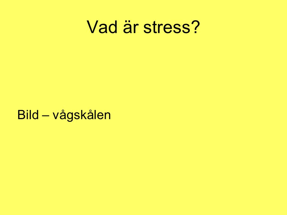 Vad är stress Bild – vågskålen