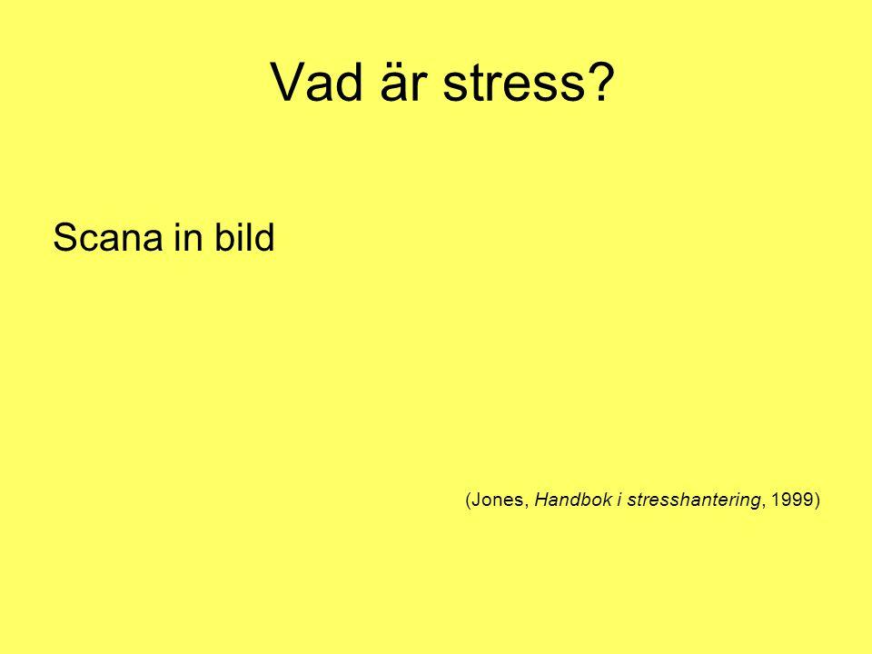 Vad är stress Scana in bild (Jones, Handbok i stresshantering, 1999)