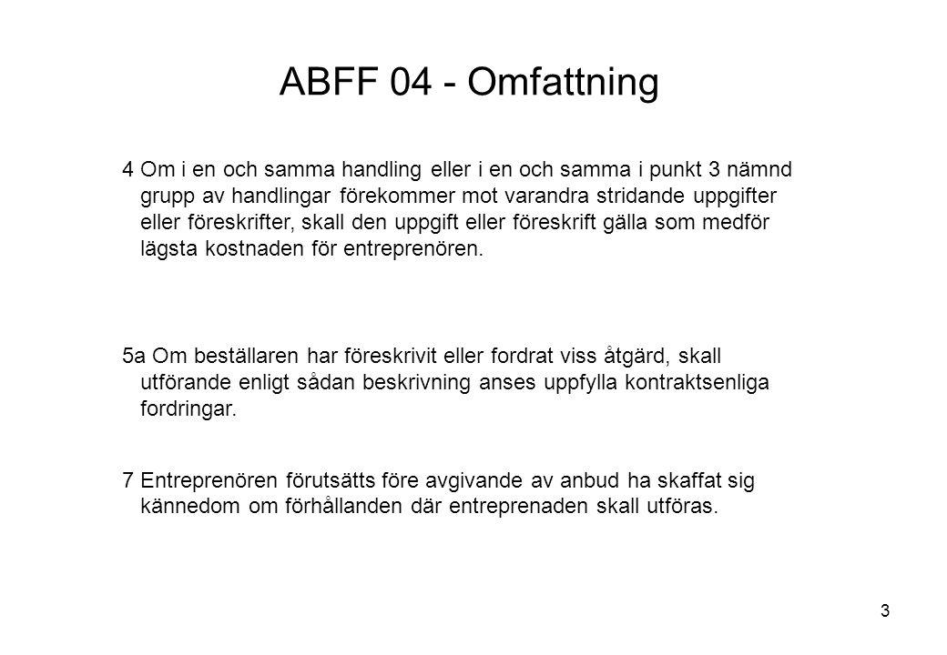 ABFF 04 - Omfattning Titel: