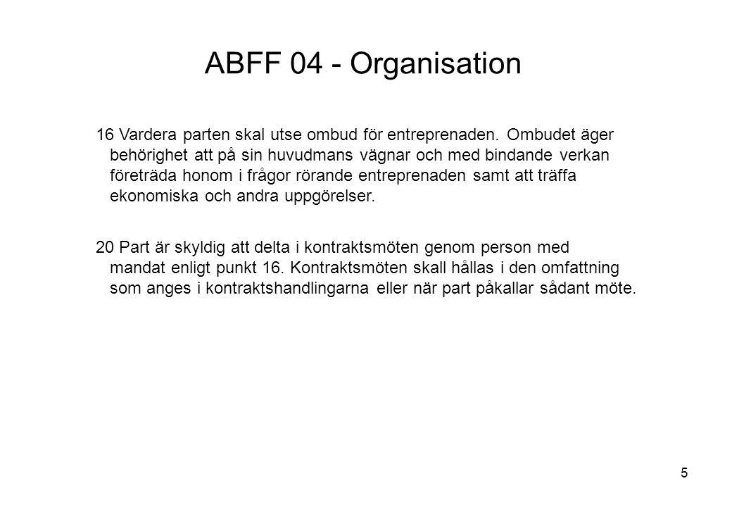 ABFF 04 - Organisation Titel: