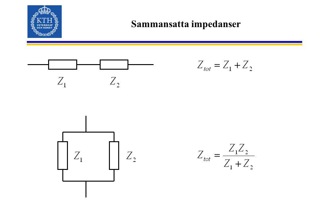 Sammansatta impedanser