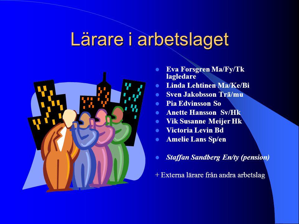 Lärare i arbetslaget Eva Forsgren Ma/Fy/Tk lagledare