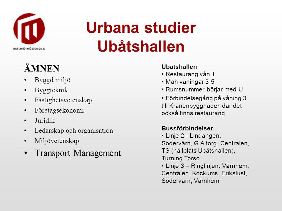 Urbana studier Ubåtshallen