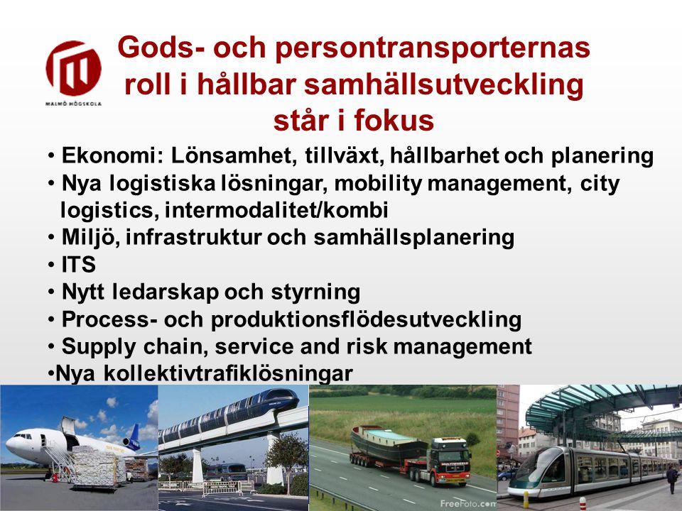 Gods- och persontransporternas roll i hållbar samhällsutveckling står i fokus