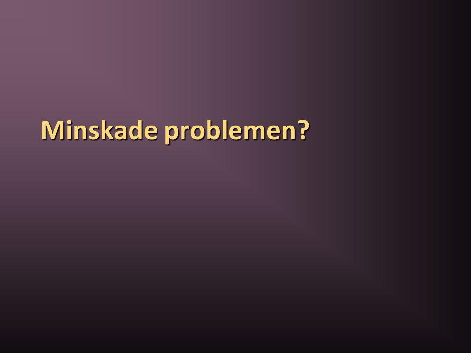 Minskade problemen