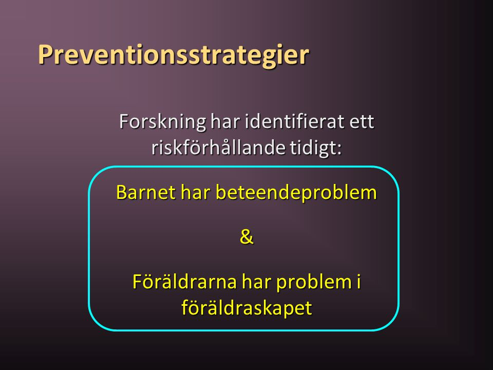 Preventionsstrategier