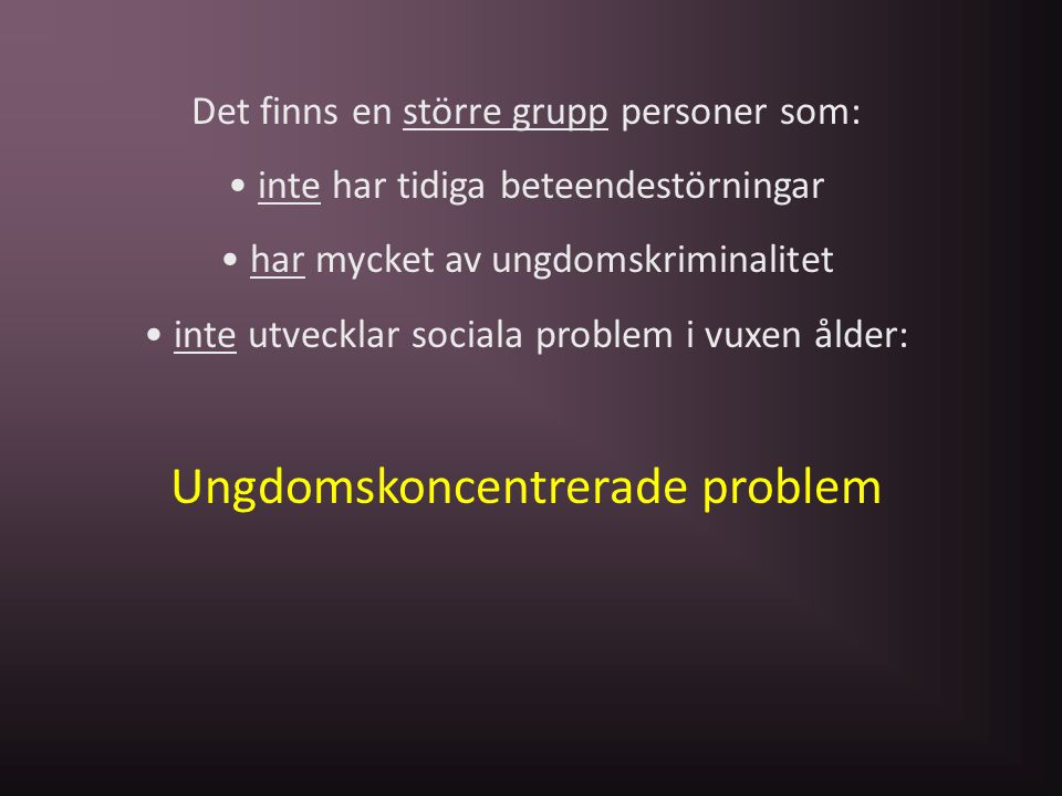 Ungdomskoncentrerade problem