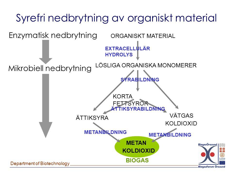 Syrefri nedbrytning av organiskt material