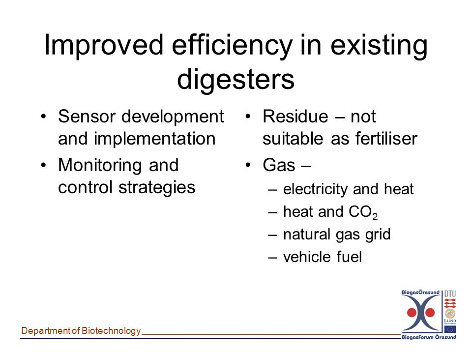 Improved efficiency in existing digesters