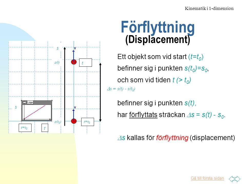 Förflyttning (Displacement)