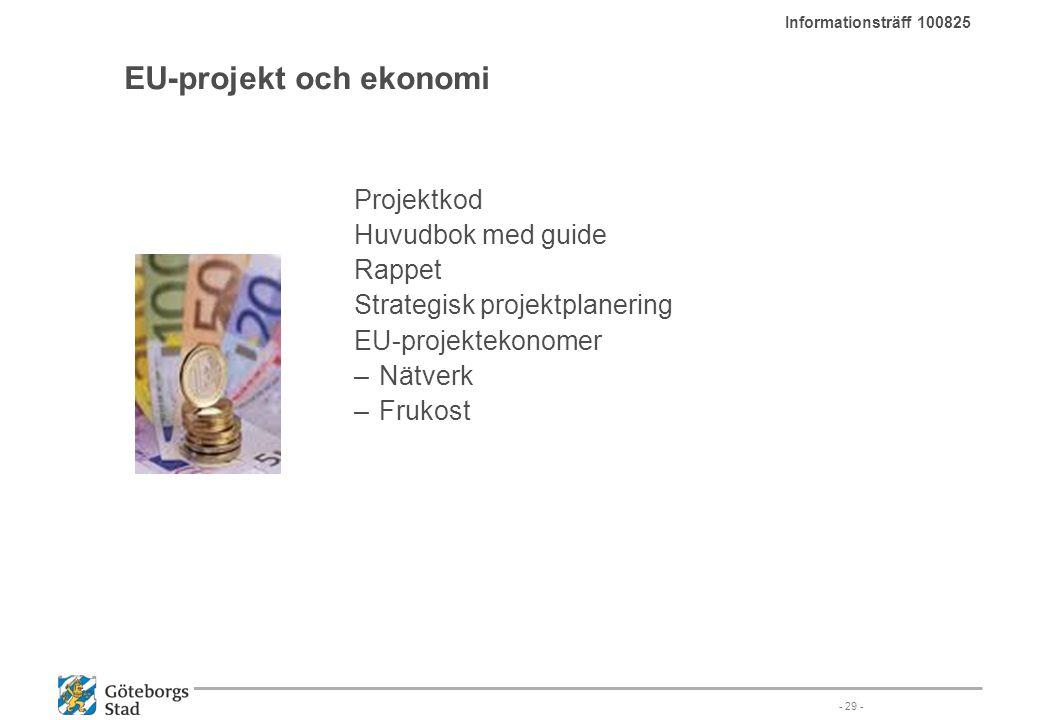 EU-projekt och ekonomi