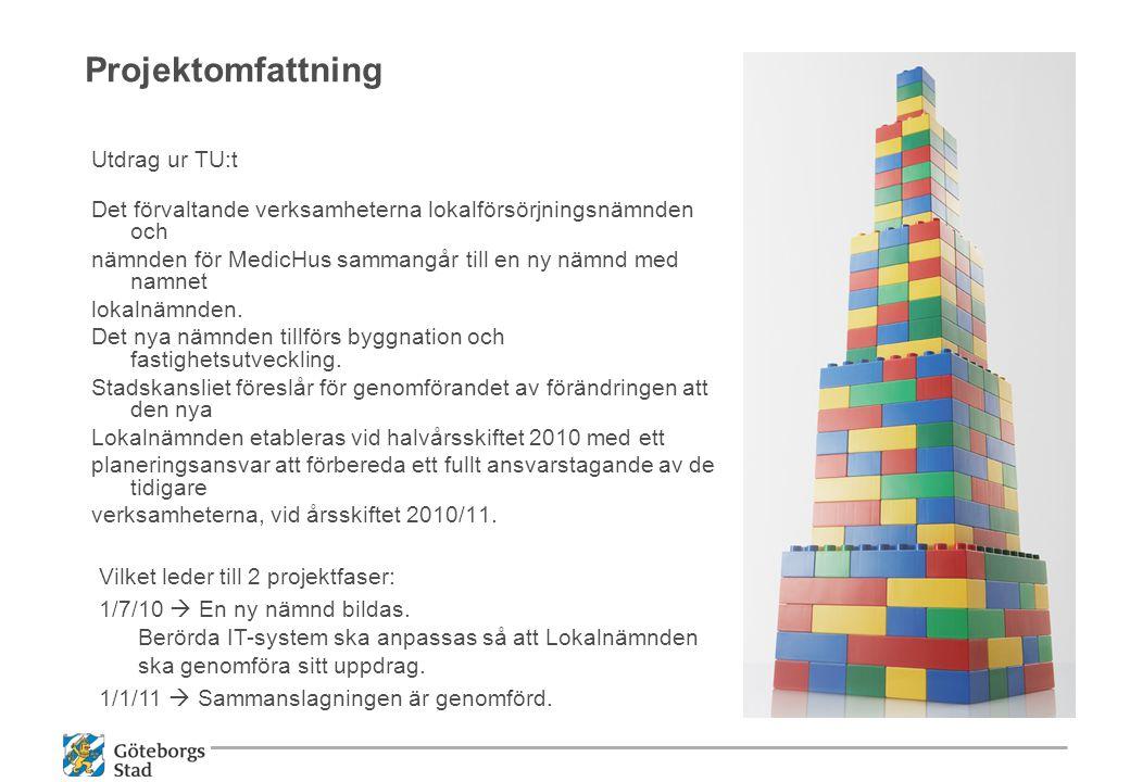 Projektomfattning Utdrag ur TU:t