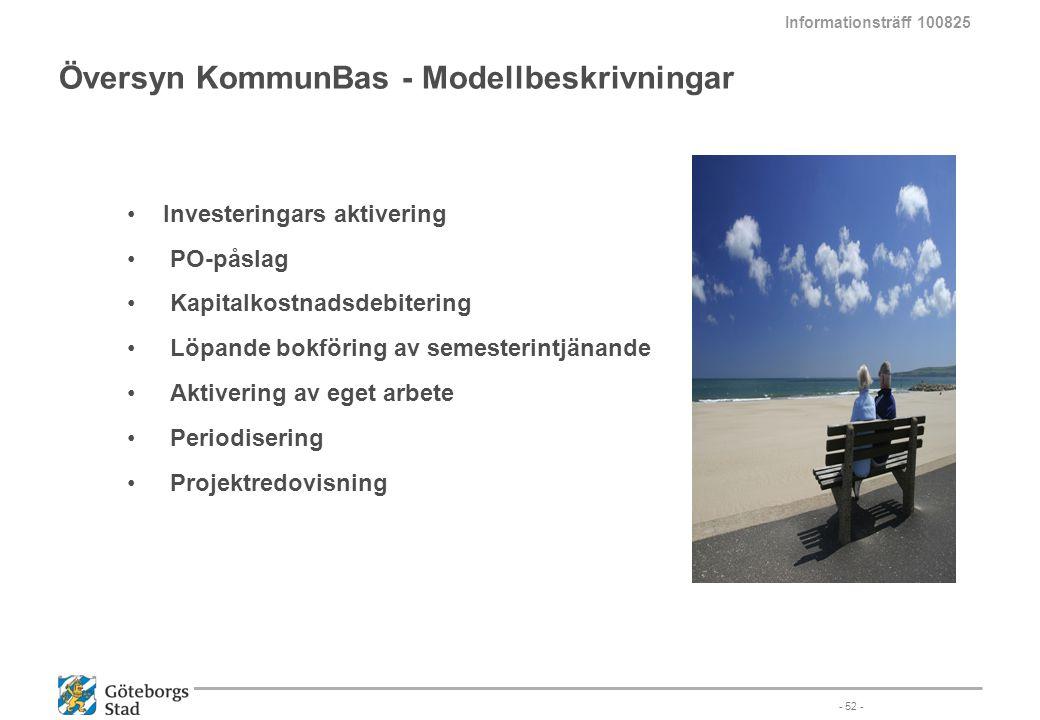 Översyn KommunBas - Modellbeskrivningar