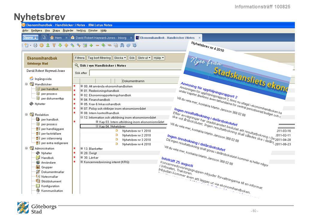 Informationsträff 100825 Nyhetsbrev - 60 -