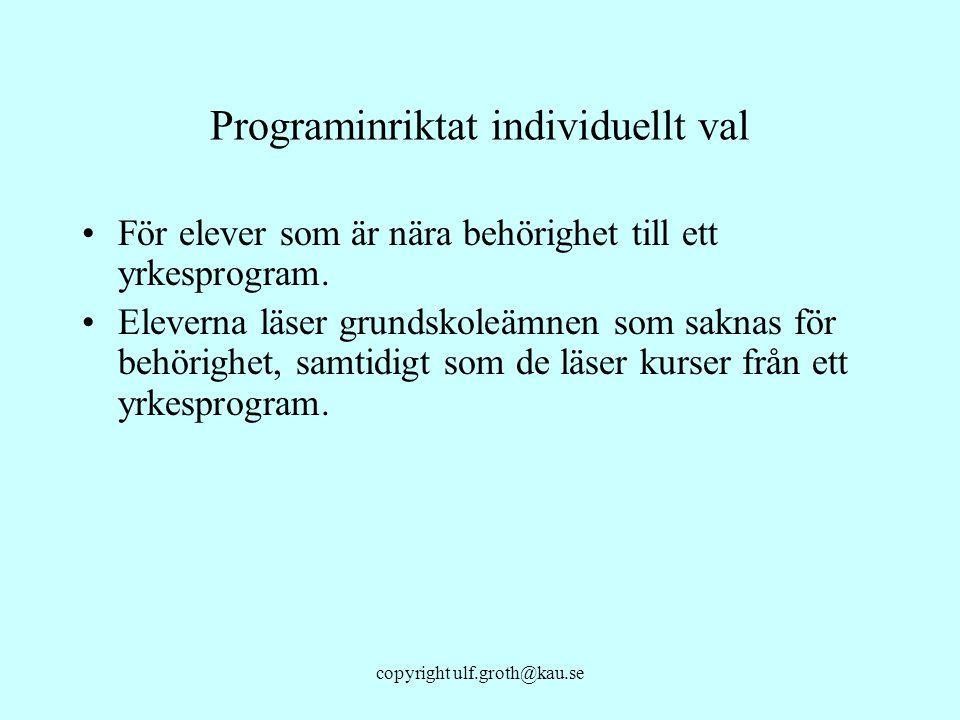 Programinriktat individuellt val